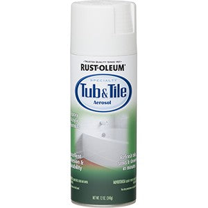 Rust-Oleum 280882 12 oz. White Tub-N-Tile Epoxy Spray