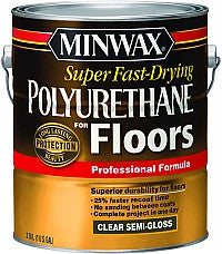 Minwax 13021 1G Semi Gloss Super Fast Dry Polyurethane For Floors 441 VOC