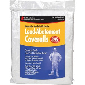 "Buffalo Industries 10 x 15"" Lead Abatement Coveralls"
