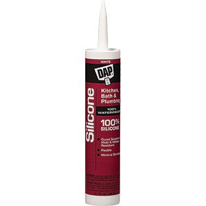 Dap 08640 9.8oz White 100% Silicone Kitchen & Bath Sealant