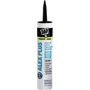 Dap 18126 10.1oz Black Alex Plus Caulk