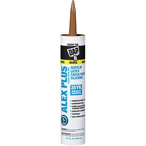 Dap 18122 10.1oz Cedar Tan Alex Plus Caulk