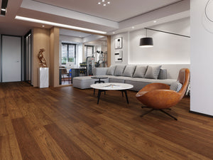 "AFY19001 Hickory DarkWood 7-1/2"" Wide 1/2"" Thick, 2mm Wear Layer Engineered Hardwood (31.09SqFt/Carton)"