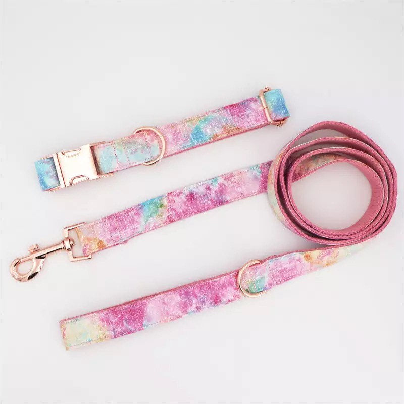 Personalize Dog Collar for Girl, BowTie Dog Collar With Name, Engrave Puppy Collar, Girl Dog Wedding Collar with Bow, XS Dog Flower Collar