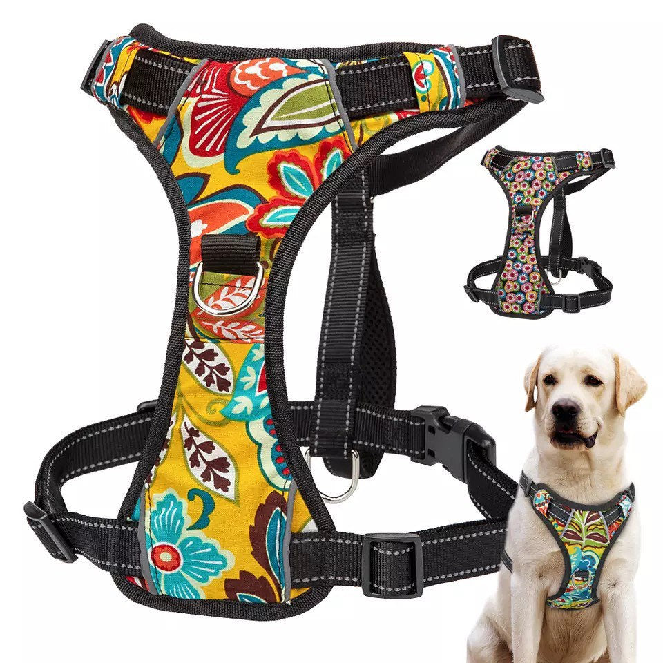 Reflective Dog/Puppy Harness, Bow, Leash and Harness Set. Dog Harness. Puppy Harness Set for extra small to extra large dogs