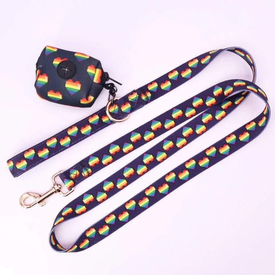 Personalized Dog Harness Set, Floral dog harness and leash,puppy harness with leash, Pet Supplies, dog harness leash set,dog harness vest