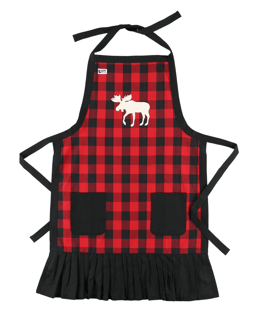 Moose Plaid - Womens Apron