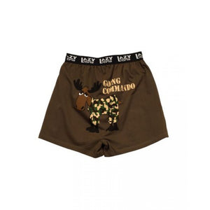 Going Commando Moose (brown) - Mens Boxers