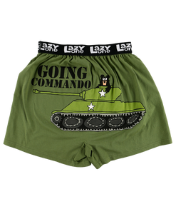 Going Commando (green) - Mens Boxers