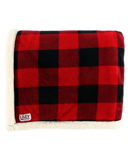 Red Plaid - Sherpa Throw Blanket