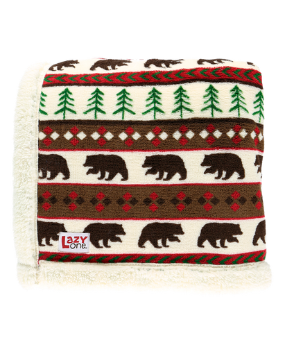 Bear Fair Isle - Sherpa Throw Blanket