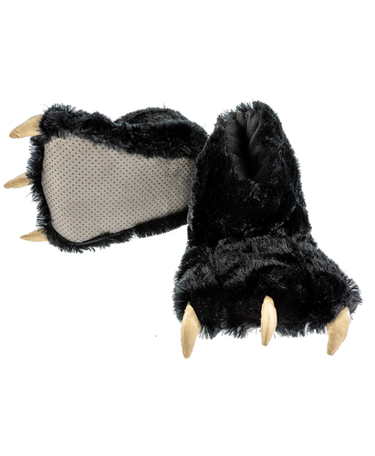 Black - Paw Slippers