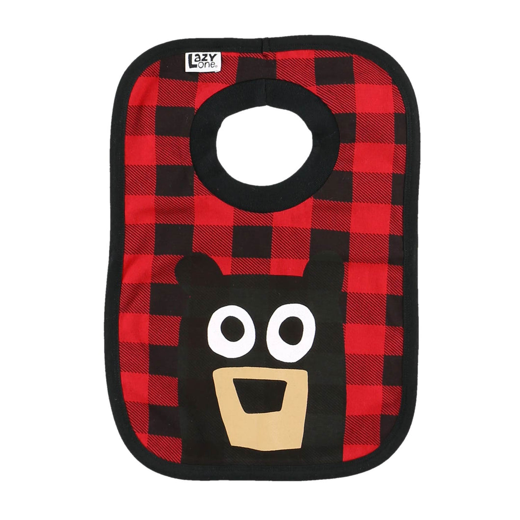 Bear Plaid - Infant Bib
