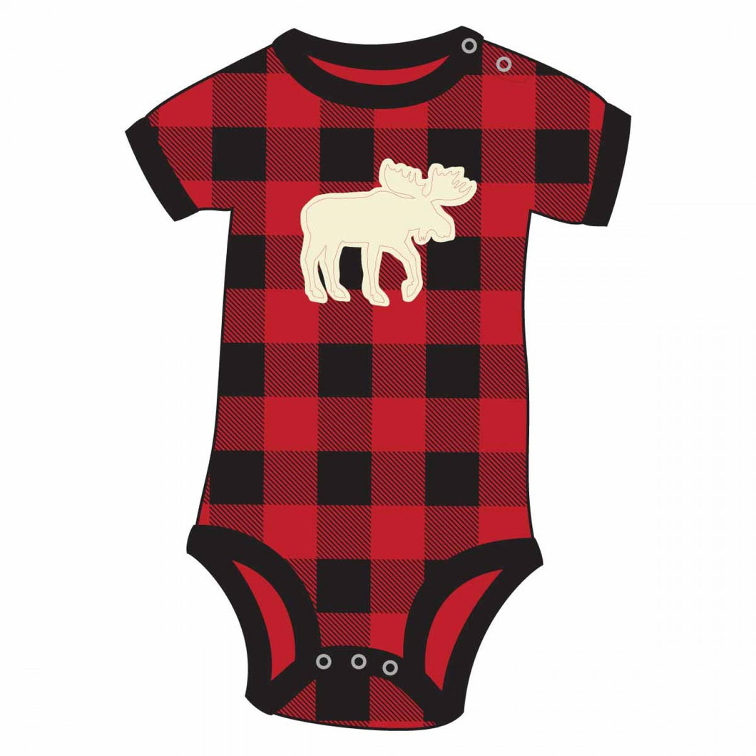 Moose Plaid - Infant Creeper