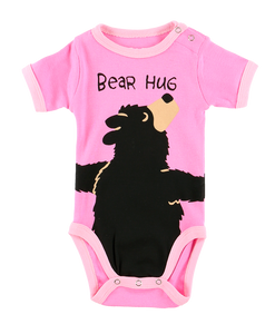 Bear Hug (Pink) - Infant Creeper