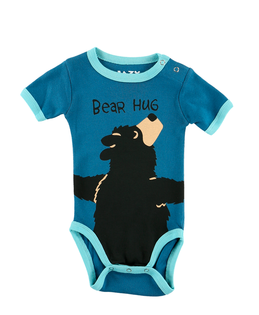 Bear Hug (Blue) - Infant Creeper