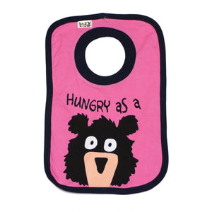 Hungry As A Bear (Pink) - Infant Bib