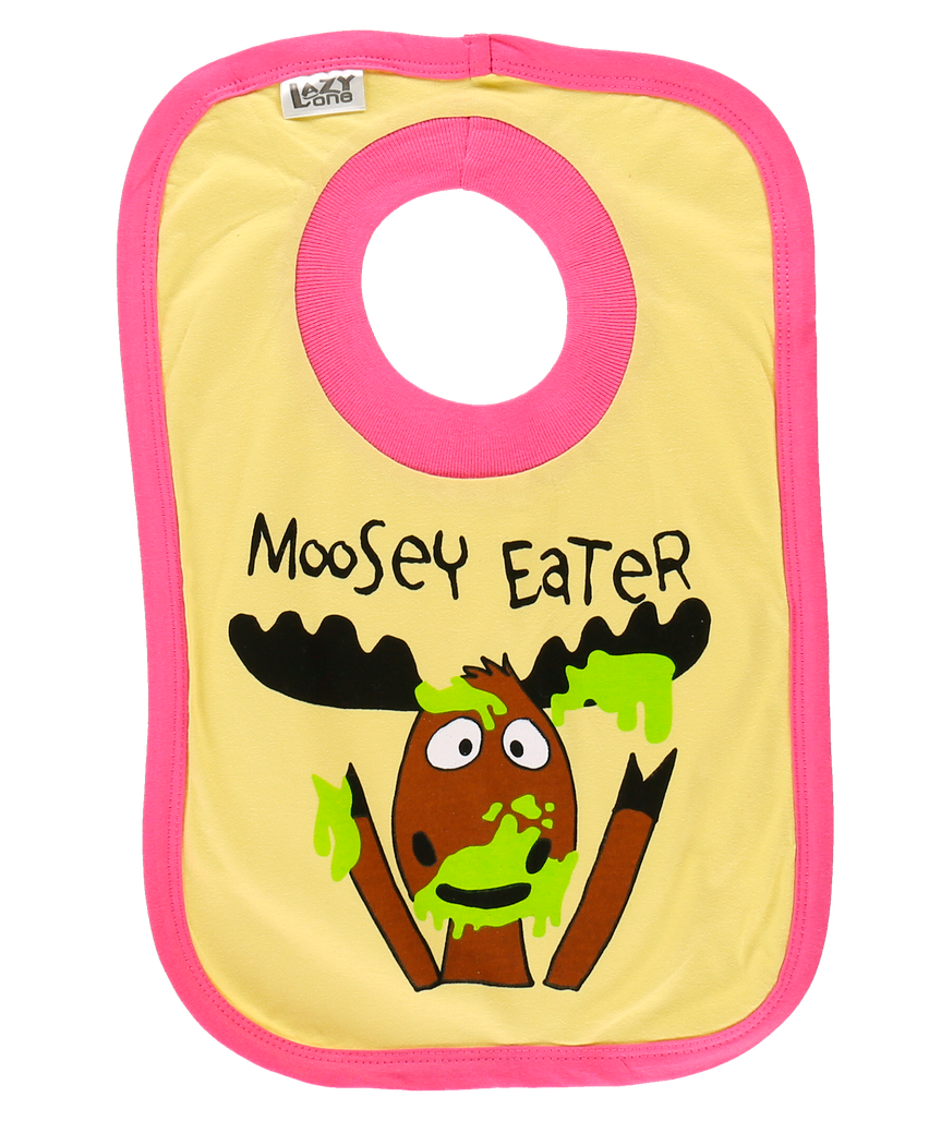 Moosey Eater (Yellow) - Infant Bib