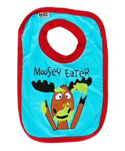 Moosey Eater (Blue) - Infant Bib