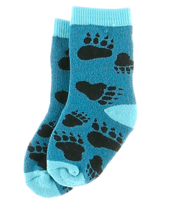 Bear Hug (Blue) - Infant Socks
