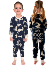 Load image into Gallery viewer, Blue Classic Moose - Kids Flapjacks