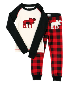 Moose Plaid - Kids PJ Set