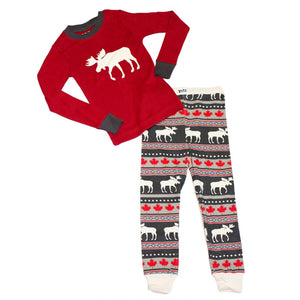 Moose Fair Maple - Kids PJ Set