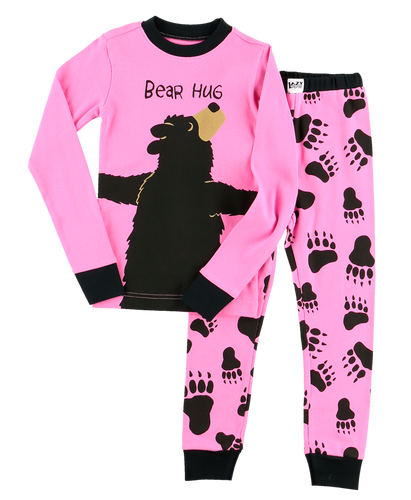 Bear Hug (Pink) - Kids PJ Set