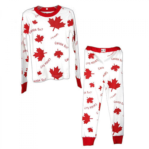 Canada Eh? (White) - Kids PJ Set