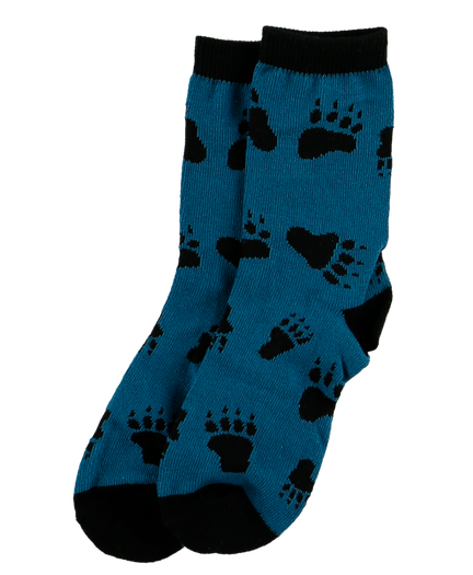 Bear Hug (Blue) - Kids Socks