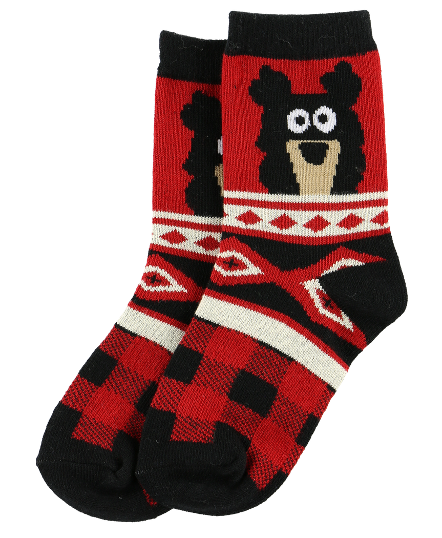 Cabin Bear - Kids Socks