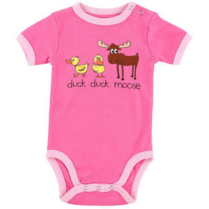 Duck Duck Moose (Pink) - Infant Creeper