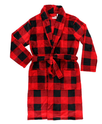 Mens Red Plaid - Robe