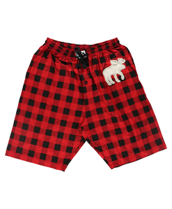 Moose Plaid - PJ Shorts