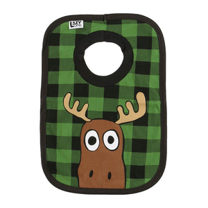 Moose Plaid - Infant Bib