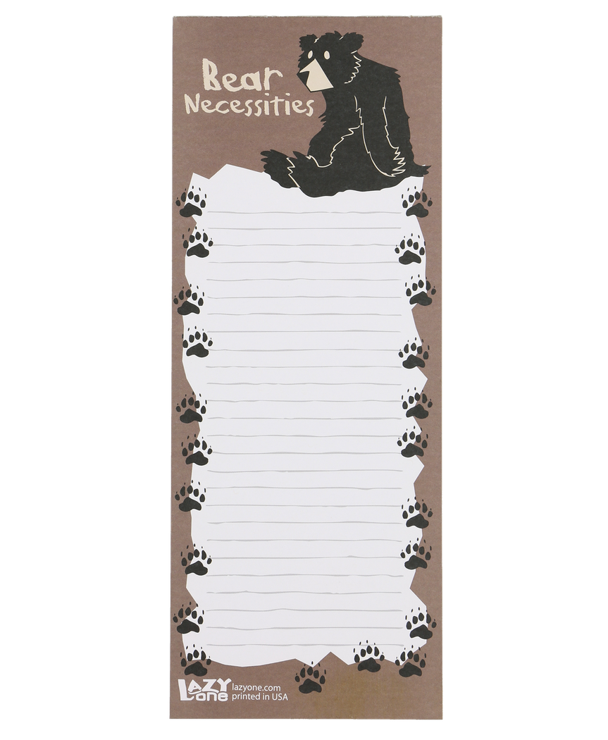 Bear Necessities - Note Pad