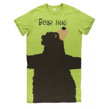 Load image into Gallery viewer, Bear Hug (Green) - One Size Night Shirt