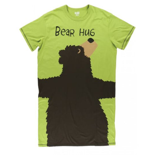 Bear Hug (Green) - One Size Night Shirt