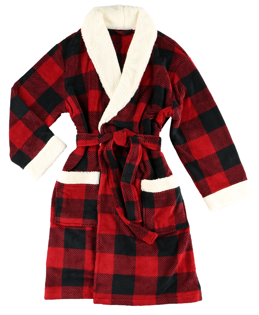 Red Plaid - Robe