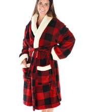 Load image into Gallery viewer, Red Plaid - Robe