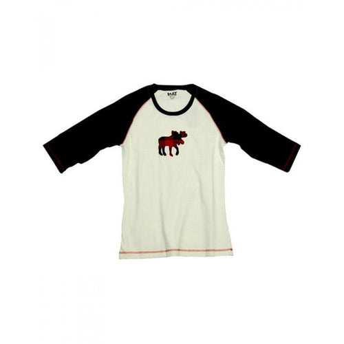 Moose Plaid - Raglan Tee