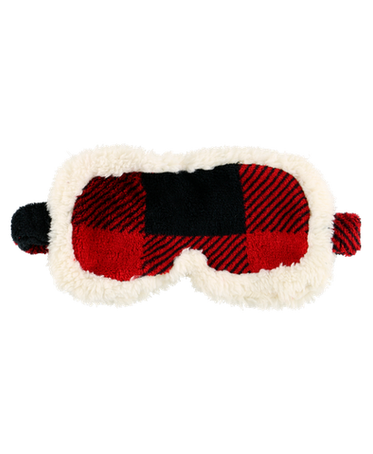Red Plaid - Sherpa Sleep Mask