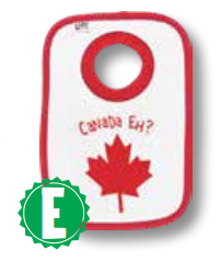 Canada Eh? (White) - Infant Bib