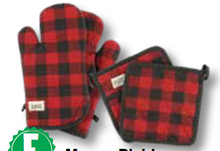 Load image into Gallery viewer, Moose Plaid - Oven Mitts