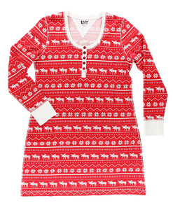 Nordic Moose - Scoop Neck Nightshirt