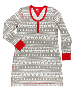 Nordic Bear - Scoop Neck Nightshirt