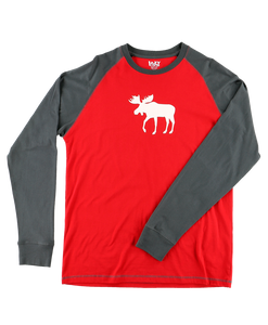 Moose Fair Maple - Long Sleeve Unisex PJ T-Shirt