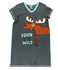 Born to Be Wild - V-Neck Nightshirt