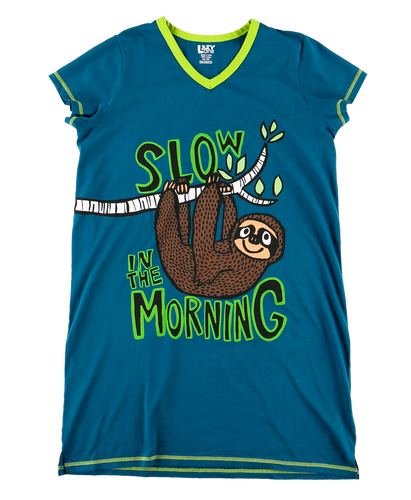 Sloth - V-Neck Nightshirt