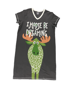 Moose Be Dreaming - V-Neck Nightshirt